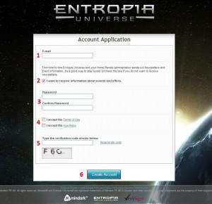 entropia universe registration