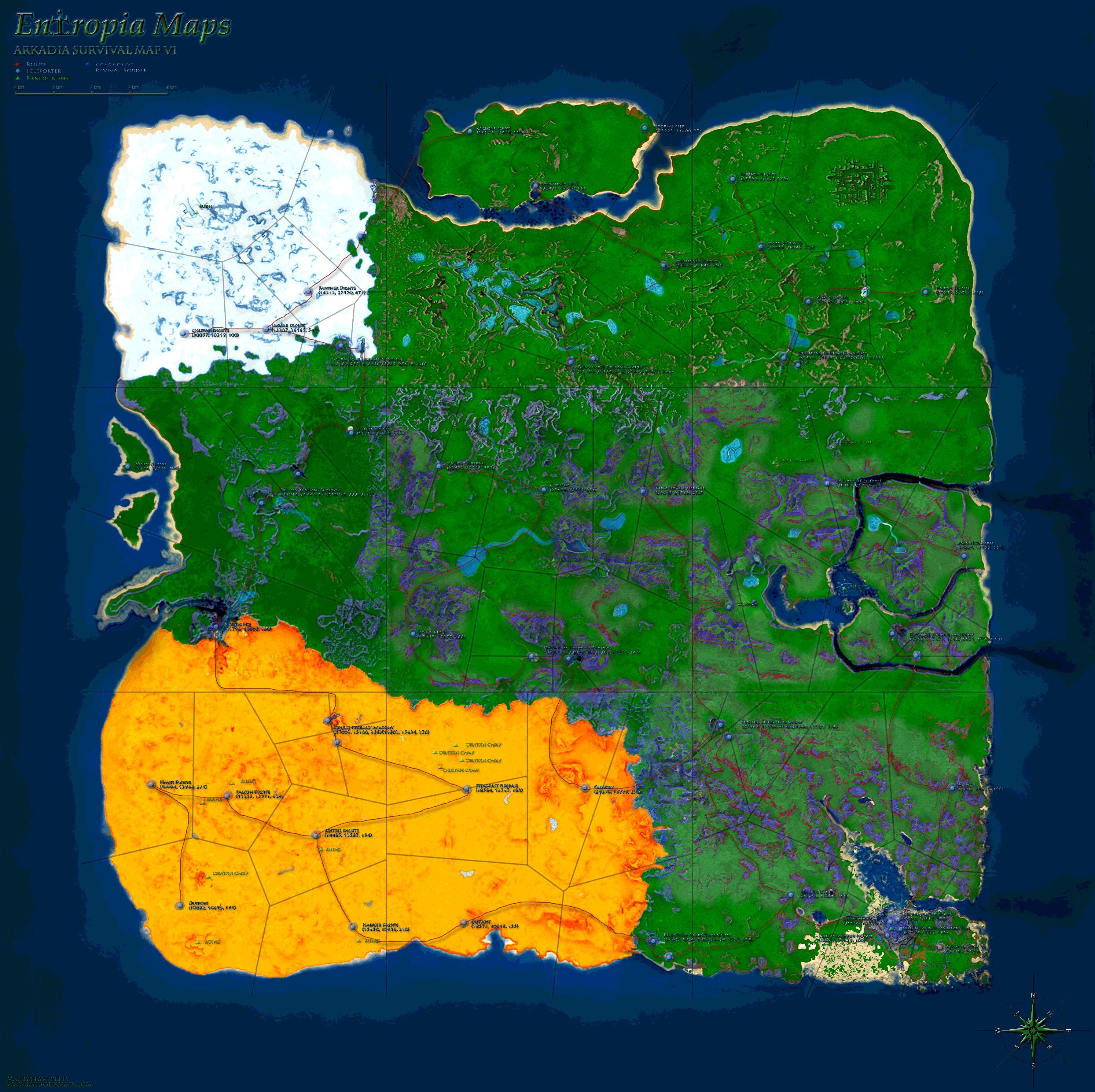 карта Arkadia