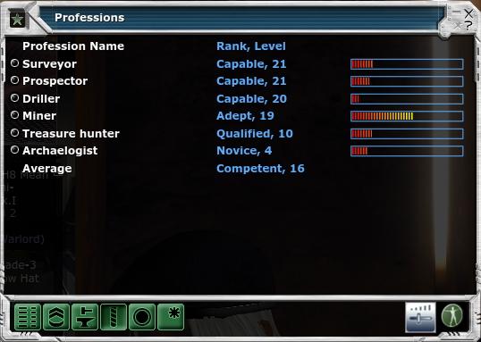 уровень в майнерских профессиях Entropia Universe