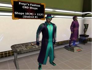 Entropia Universe крафтер одежды в своем магазине
