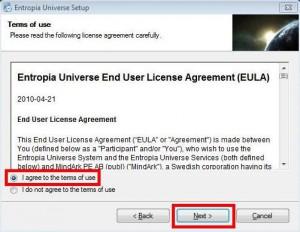Entropia Universe installer2