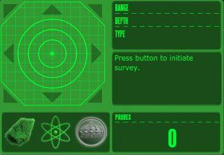 экран детектора ресурсов в Entropia Universe